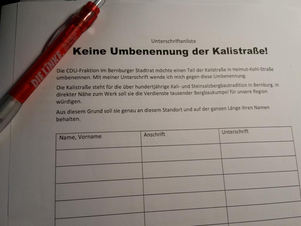 DIE LINKE. Kreisverband Salzlandkreis: Bernburg
